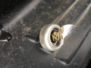 普通自動車を相続した際に剥がした封印です。